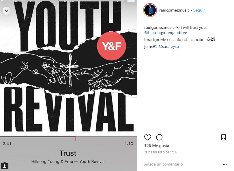 hillsong young free raul gomez instagram tu cancion eurovision alfred amaia